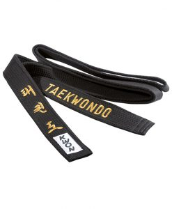 Pojas Taekwondo Embroidered Black 5 cm 3061