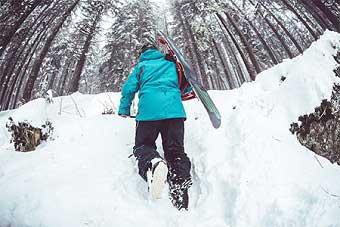 uspon prije spustanja skijanje